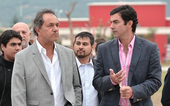 El gobernador bonaerense y precamndidato presidencial, Daniel Scioli, viajó a Salta a festejar el triunfo de Urtubey. Foto: Wikimedia Commons