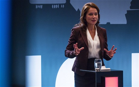 La actriz Sidse Babett Knudsen, intérprete de la primera ministra de Dinamarca.