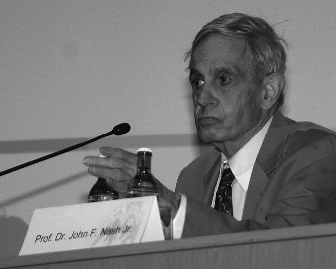 John Nash en un simposio sobre teoría de juegos en la Universidad de Colonia (2006) | Foto: Wikicommons.