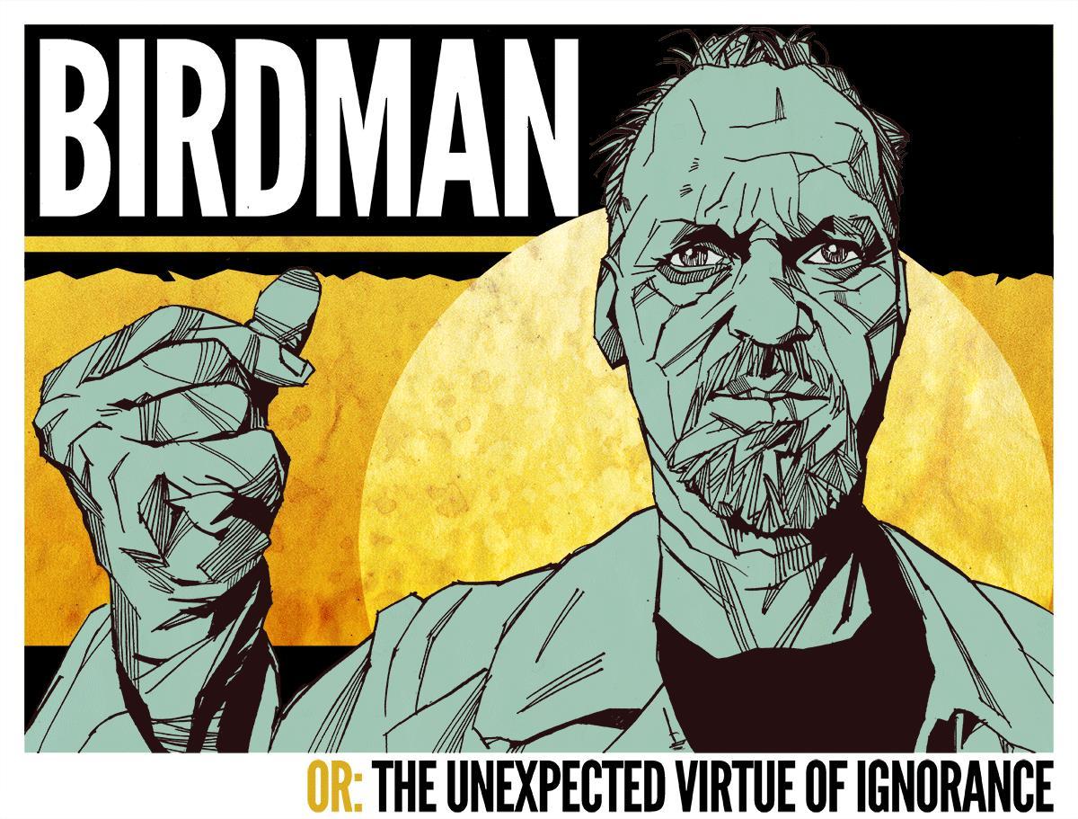 Michael Keaton lucha por separarse de Birdman. Imagen: cinemuckblog.wordpress.com.