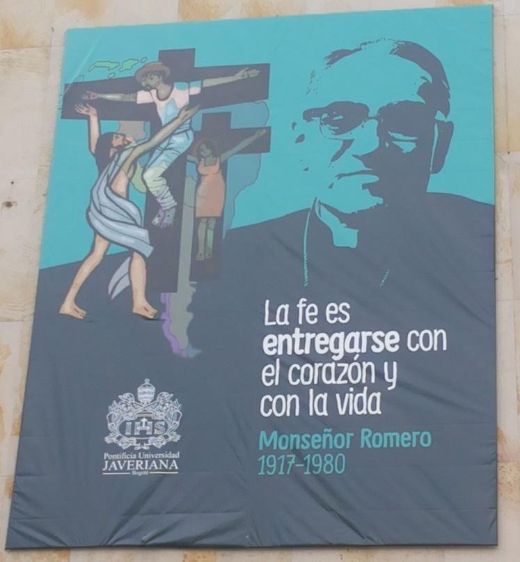 Imagen de Monseñor Romero en la Pontificia Universidad Javeriana (Bogotá) | Foto: José Alejandro Cepeda.
