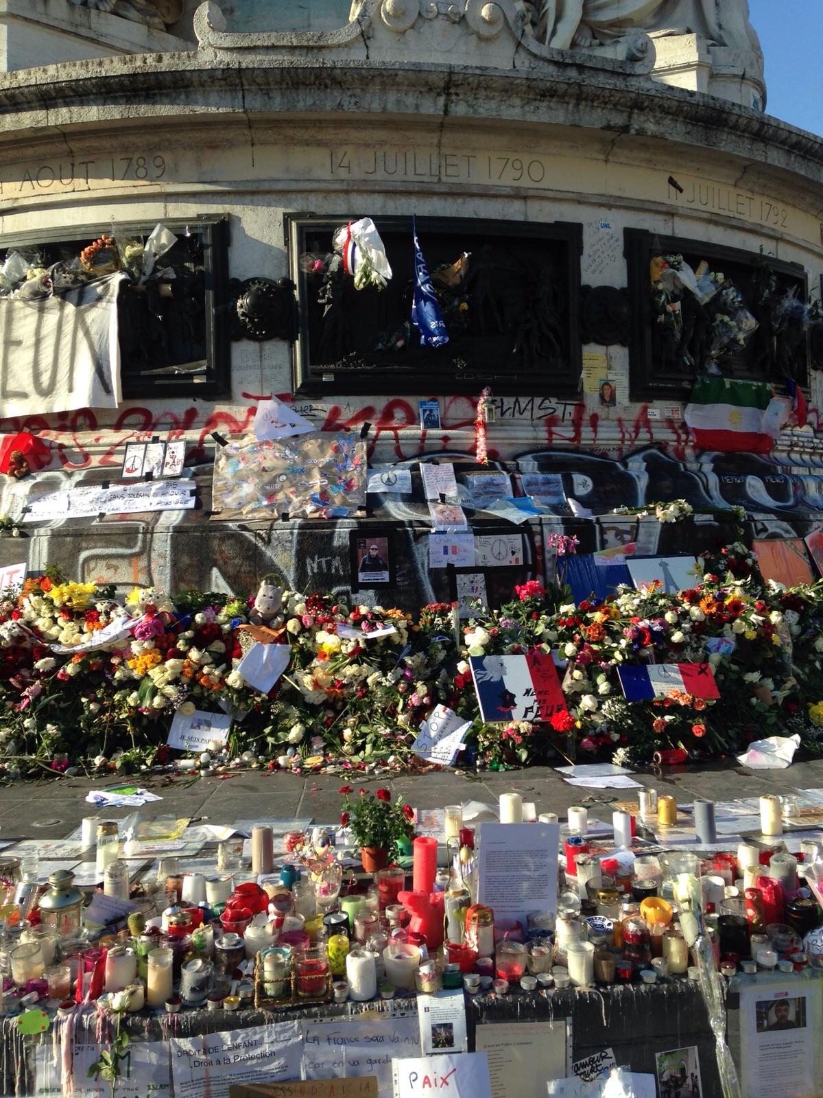 Plaza de la República, Paris, noviembre 2015. Fotografía: Agustina Carriquiry