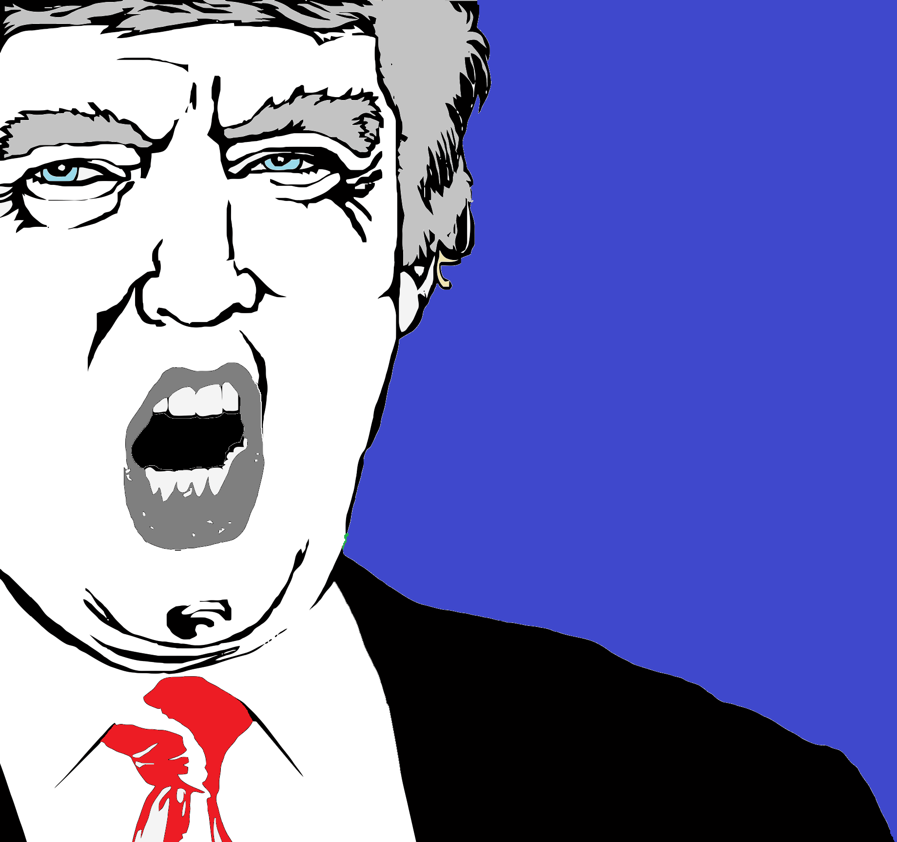 Retrato digital de Donald Trump