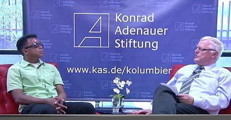 Edgar Bermúdez entrevistado por el Dr. Hubert Gehring, director de la oficina de la KAS en Bogotá