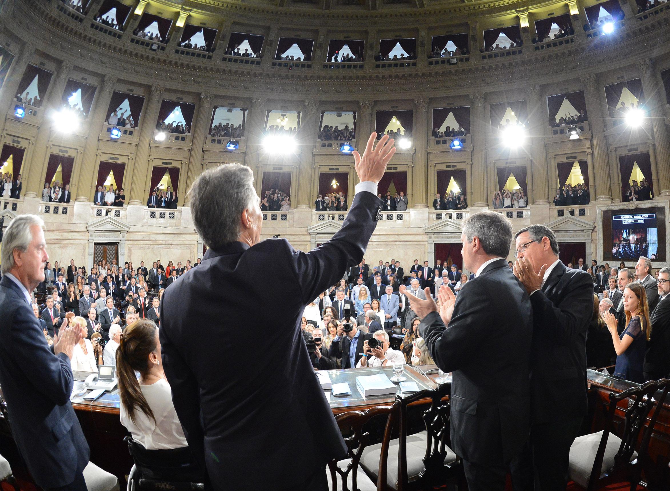 Macri ante el Congreso    © Presidencia de la Argentina
