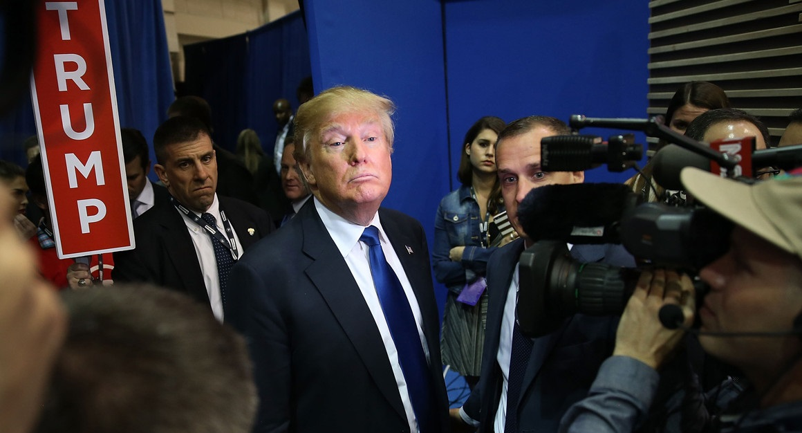 Trump en campaña.