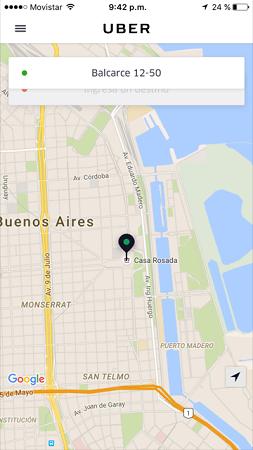 Aplicación Uber.