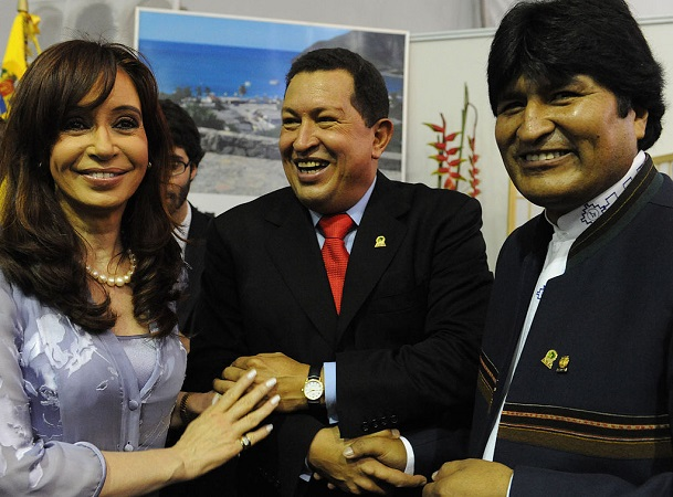 Cristina Kirchner, Hugo Chávez y Evo Morales | Foto: Presidencia de la Nación Argentina