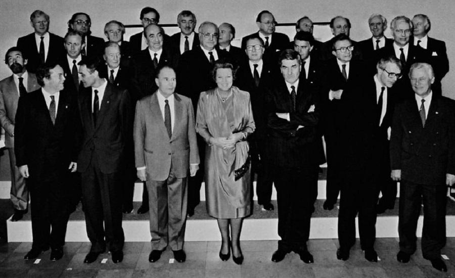 Grupo del Consejo Europeo reunido en Maastricht, diciembre de 1991 | Foto: Comisión Europea
