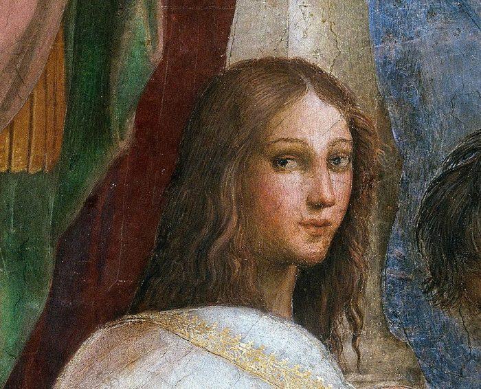 Detalle del retrato de Hypatía de Alejandría realizado por Rafael Sanzio | Wikicommons