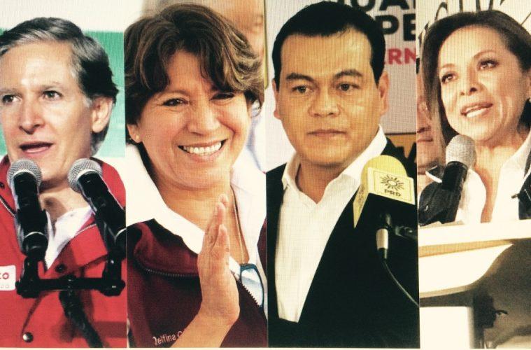 Del Mazo, Gómez, Zepeda y Vázquez Mota, candidatos a gobernar el Estado de México | Imagen: Carlos Castillo