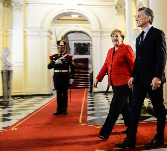 Angela Merkel y Mauricio Macri en la Casa Rosada | Foto: Presidencia de la Nación Argentina