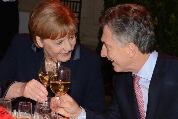 Mauricio Macri y Angela Merkel brindan en la reciente visita de la canciller alemana a Argentina | Foto: Presidencia de la Nación, Argentina