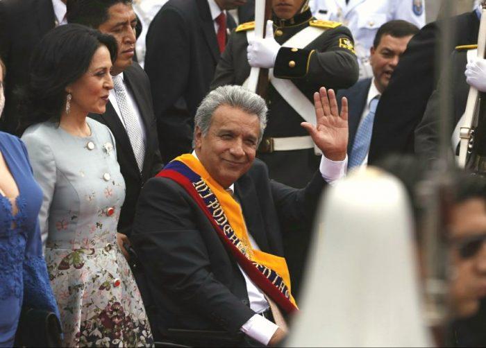 Lenín Moreno, presidente de Ecuador, 24.5.2017 | Foto: ANDES/Micaela Ayala V.