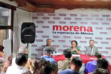 Embajadora-de Venezuela en México, en evento con militantes de Morena