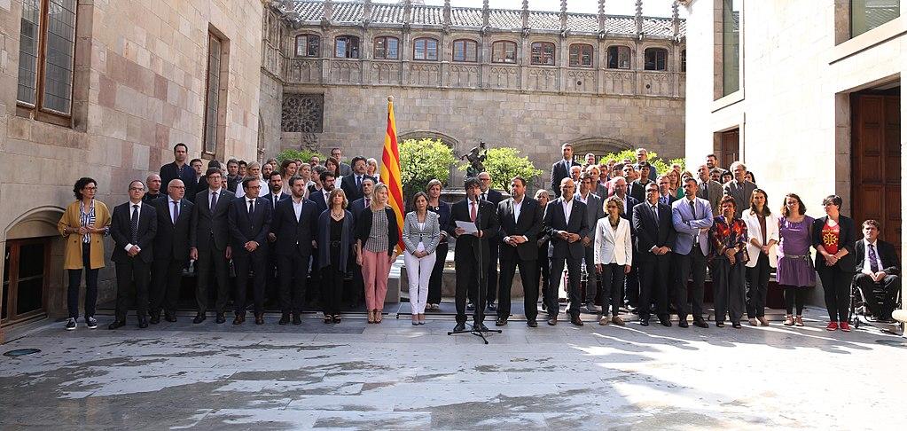El presidente Puigdemont anuncia que Cataluña celebrará el referéndum de independencia el 1 de octubre de 2017   Foto: Generalitat de Catalunya