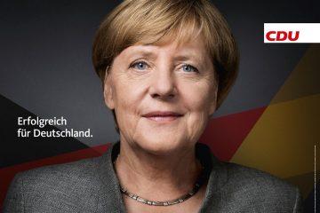 Cartel electoral: «Éxito para Alemania» | Fuente: CDU