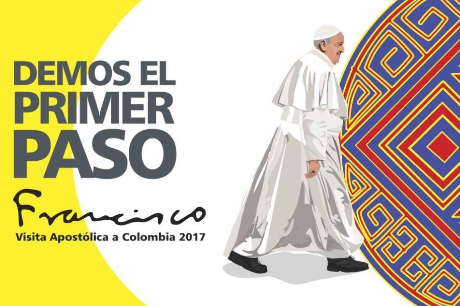 Afiche de la visita del papa a Colombia   Fuente: Conferencia Episcopal
