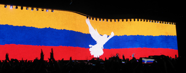 U2 en vivo el 7.10.2017, estadio El Campín, Bogotá   Foto: José Alejandro Cepeda