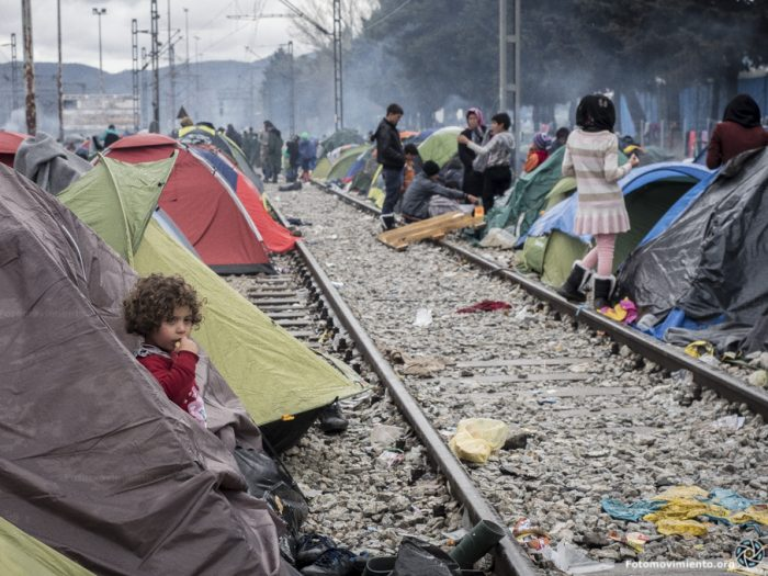 Campo de refugiados en Idomeni, Grecia | Foto: Fotomovimiento, vía Flickr