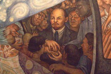 Detalle de Lenin en la obra El hombre en el cruce de caminos (1934) de Diego Rivera, mural en exhibición permanente en el Palacio de Bellas Artes de la Ciudad de México | Foto: Jontiveros, vía Wikicommons