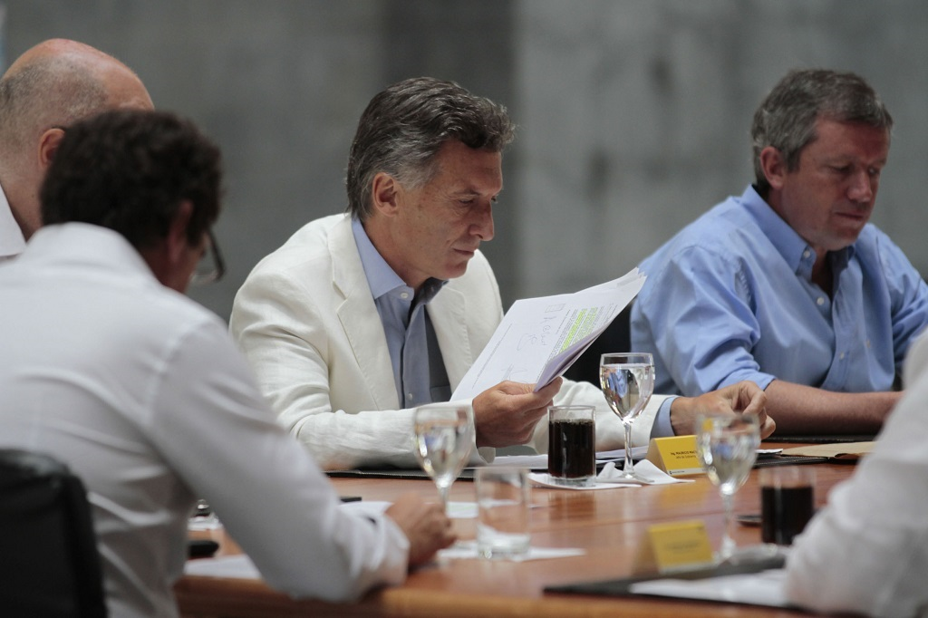 Mauricio Macri reunido con su gabinete de gobierno | Foto: Wikicommons