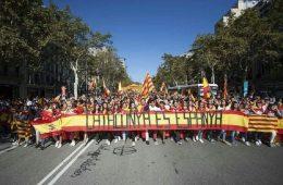 «Catalunya es Espanya», manifestación en Barcelona, 8 de octubre de 2017