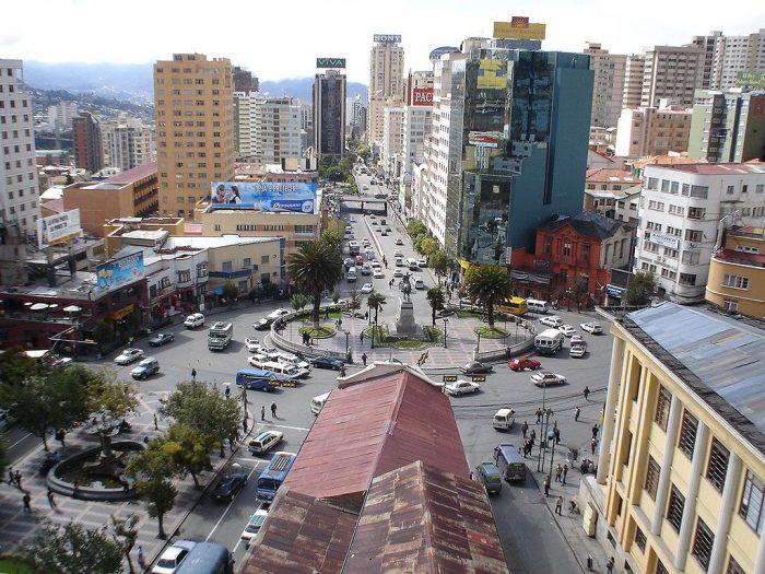 Plaza del Estudiante, ciudad de La Paz | Foto: Wikicommons