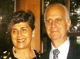 Arístides Calvani y su esposa Adela Abbo