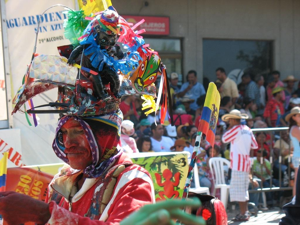 Disfraz típico del carnaval de Barranquilla | Foto: Wikicommons