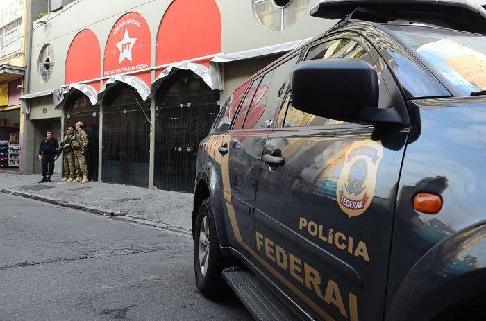 La policía federal allana la sede del PT en San Pablo, 23.06.2016 | Foto: Agencia Brasil, vía Wikicommons
