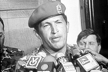Teniente coronel Hugo Chávez Frías, el 4 de febrero de 1992