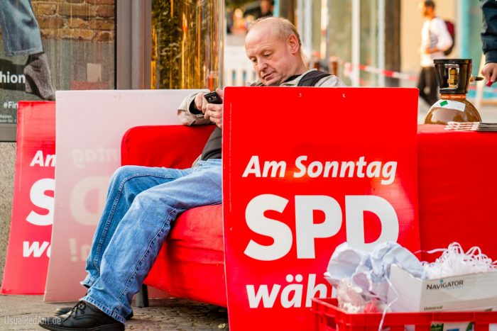 «Vote SPD el domingo» | Foto: Steffen Geyer, CC-BY-NC 2.0, via Flickr