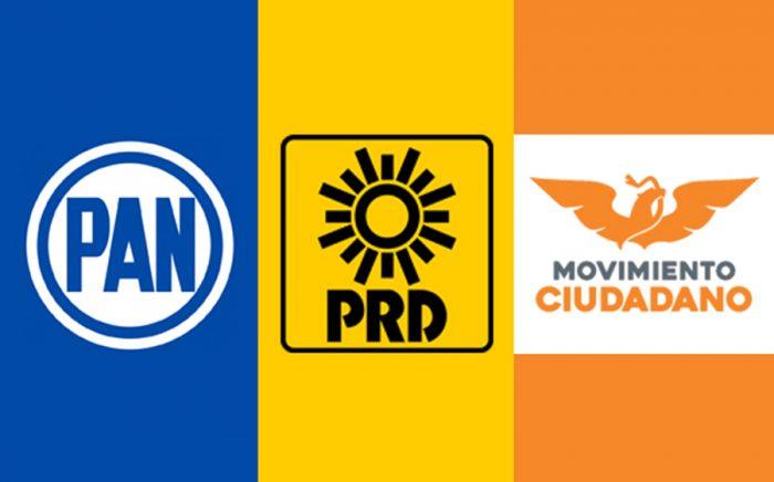 PAN, PRD y MC integran la coalición Por México al Frente