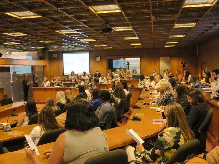 Presentación del Centro de Formación para Mujeres Políticas. Sede administrativa del Palacio Legislativo, Montevideo, 8 de marzo de 2018 | Foto: KAS Montevideo