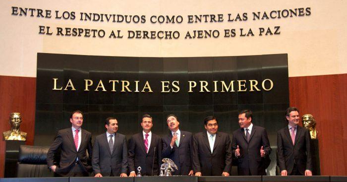 Presidente Enrique Peña Nieto en el Senado de la República | Foto: Presidencia de México, vía Wikicommons