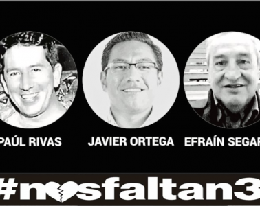 Paúl Rivas, Javier Ortega y Efraín Segarra, colaboradores del colaboradores del Diario El Comercio asesinados