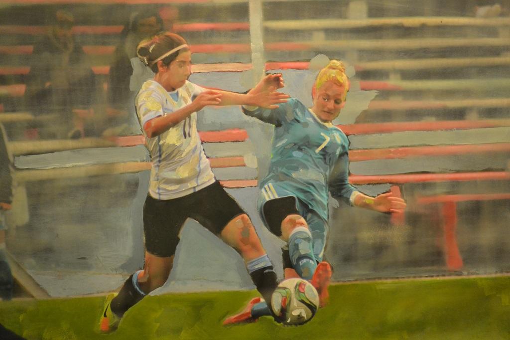 El fútbol jugado por mujeres sigue ganando espacios | Foto: Lucía Casanova, arte digital: Virginia Daglio