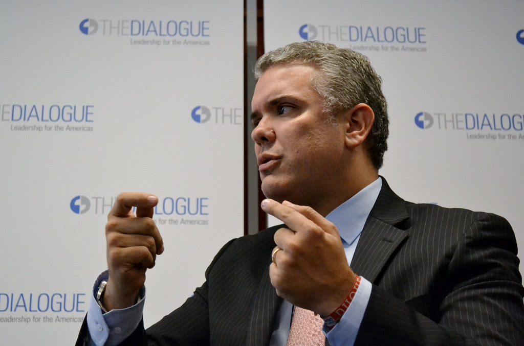 Presidente electo, Iván Duque Márquez   Foto: Inter-American Dialogue, vía Flickr