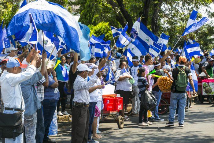 Multitudinaria marcha de la sociedad civil en Managua, 9 mayo 2018 | Foto: Jorge Mejía Peralta, vía Flickr