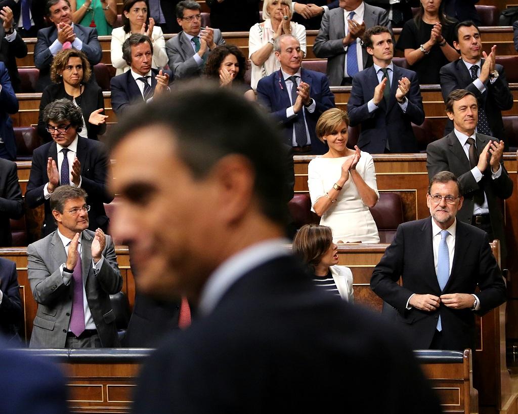 Pedro Sánchez y Mariano Rajoy en la constitución del Congreso el 19 de julio de 2016 | Foto: Marta Jara, vía Wikicommons