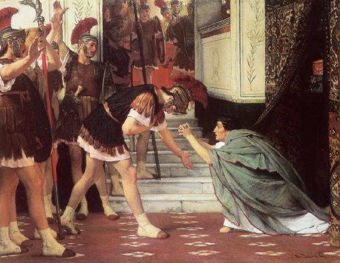 Proclamación de Claudio emperador (Sir Lawrence Alma-Tadema, 1867) | Imagen: Wikiart CC0