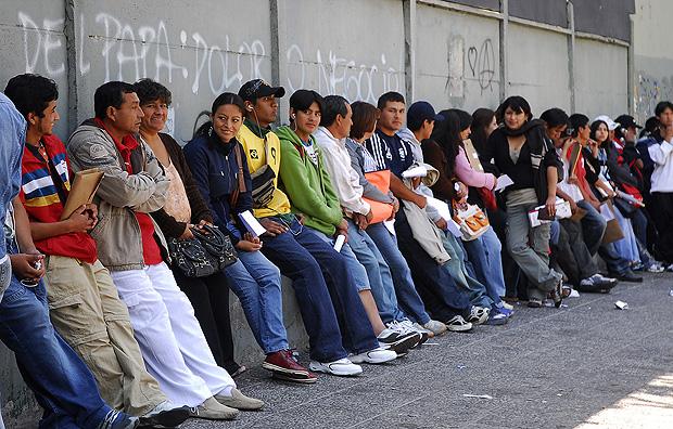 Inmigrantes en Santiago de Chile