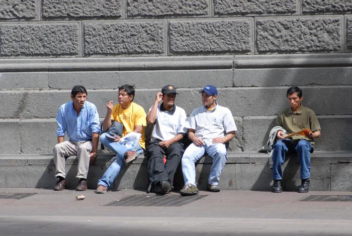 Inmigrantes en Santiago de Chile | Foto: PUCCH, vía Wikicommons