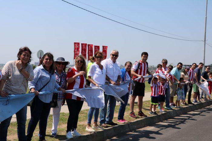 El 23 de septiembre de 2018 el partido Patria Querida concursó para ganar el récord Guinness con la línea de sábanas más grande del mundo en protesta contra las «listas sábanas» | Foto: Patria Querida