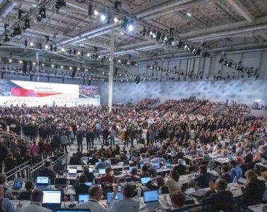 Congreso de la CDU donde AKK fue electa presidenta