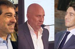 Ernesto Talvi, Edgardo Novick, Juan Sartori, precandidatos