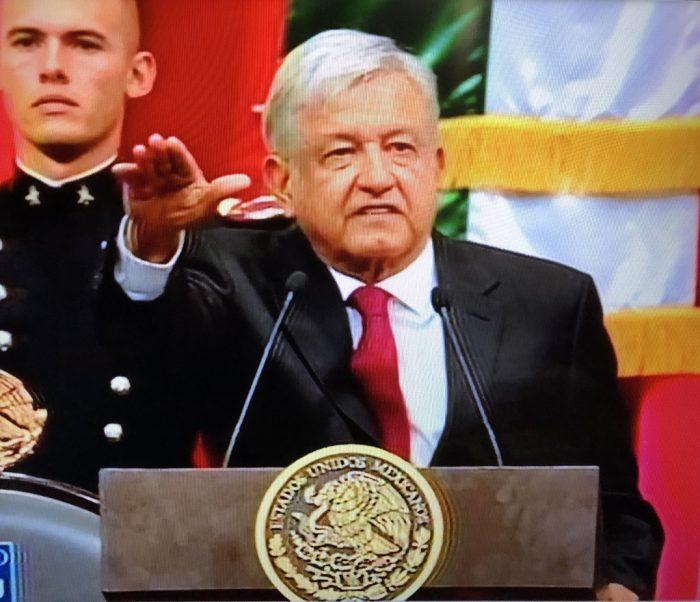 Andrés López Obrador en la toma de protesta del cargo presidencial | Imagen: captura de pantalla TV