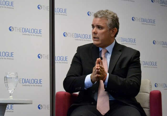 Iván Duque, presidente de Colombia | Foto: Inter American Dialogue, vía Flickr