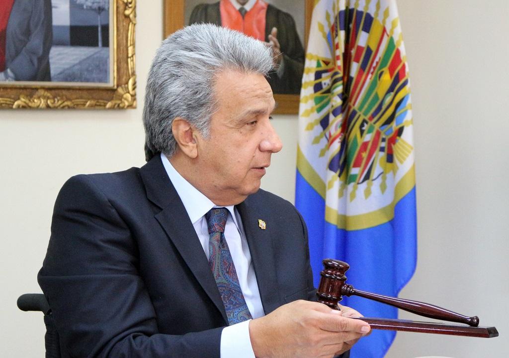 Presidente Lenín Moreno   Foto: Corte IDH, vía Flickr